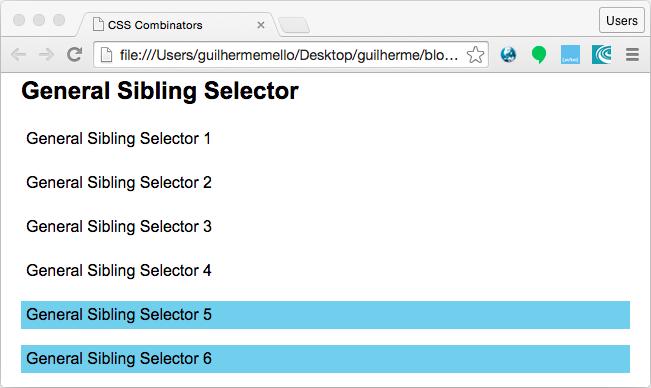 General Sibling Selector